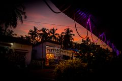 Salon de tatouage dans Goa photos libres de droits