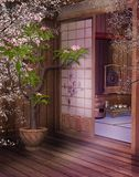 Salon de thé oriental 4 illustration stock