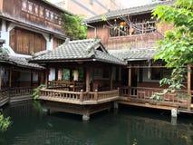 Salon de thé traditionnel à Taïwan Image libre de droits