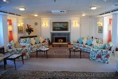 Salon an der königlichen Yacht Britannia Stockfoto