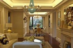 Salon doux de pièce d'exemple d'appartement Image stock