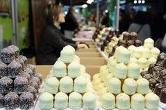 The salon du chocolat Stock Images