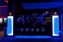 Salon du cinéma 4DX au mail méga Images stock