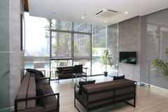 Salon en appartement de luxe Photos stock