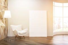 Salon ensoleillé avec la fenêtre ronde Image libre de droits
