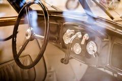 Salon exclusive retro expensive car Stock Images