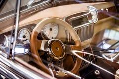 Salon exclusive retro expensive car Stock Photos