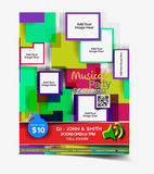 Salon Flyer design Royalty Free Stock Images