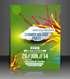 New Year Party Flyer. Music Party Flyer & Poster Template Design Royalty Free Stock Photography