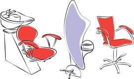 Salon furniture set. Cartoon graphic Royalty Free Stock Images