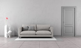 Salon gris Illustration Stock
