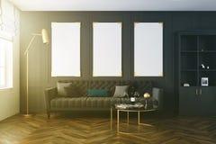 Salon gris, galerie d'affiche modifiée la tonalité Image libre de droits