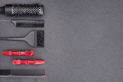 Free Salon Hairdresser Accessories, Comb, Application Brush Royalty Free Stock Image - 75457226