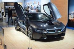 Salon international BMW i8 d'automobile de Moscou Images libres de droits
