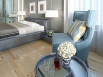 Salon luxueux de turquoise de chaise longue Photos stock