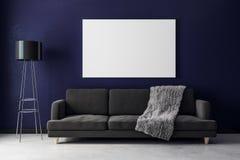 Salon moderne avec l'affiche Image libre de droits