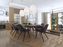 Salon moderne dans un style de grenier Photo stock