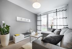 Salon moderne de conception intérieure Image libre de droits
