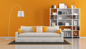 Salon moderne orange Photos stock