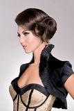 Salon mody włosy model obraz stock
