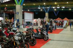 Salon Moto & Bike Royalty Free Stock Photography