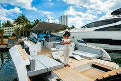 Salon nautique d'International de Miami photo stock