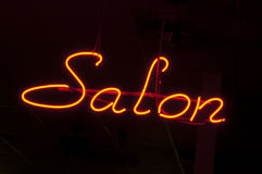 Salon Neon Sign Stock Photo