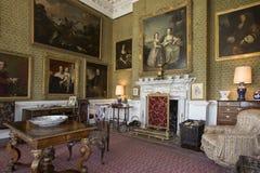 Salon - rezydencja ziemska dom - Yorkshire, Anglia - Zdjęcia Royalty Free