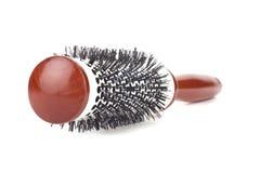 Salon round hairbrush Stock Photos