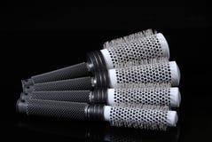 Salon round hairbrushes isolated Royalty Free Stock Image