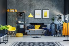 Salon scandinave de style photos libres de droits