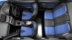 Salon sports car. Class sedan. 3D illustration. stock illustration