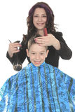 Salon Style - Hairdresser in studio white Royalty Free Stock Photo