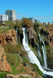 Salon voisin d'Antalya de cascade de Duden Images stock