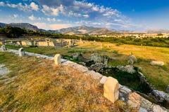 Salona古老城镇废墟  免版税库存照片