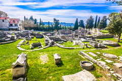 Salona landmark in suburb of Split, Croatia. Stock Photos