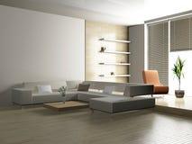 Salone 3D Immagini Stock