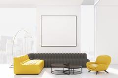 Salone con due sofà e poltrone illustrazione di stock