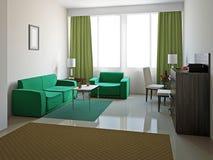 Salone con mobilia illustrazione vettoriale