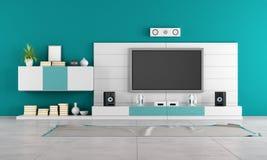 Salone contemporaneo con la TV illustrazione di stock