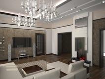 Salone 3D illustrazione di stock