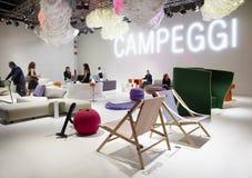 Salone del Móvel, Milão, mobília 2011 justo Fotos de Stock Royalty Free