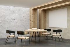 Salone del progettista con l'insegna vuota Fotografie Stock