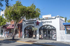 Salone del tatuaggio in Key West Immagine Stock