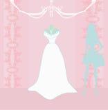 Salone del vestito da sposa illustrazione di stock