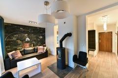 Salone dell'appartamento fotografia stock