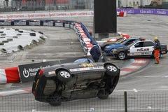 Acrobazie dell'automobile di FBI sul salone dell'automobile di Bologna Fotografia Stock