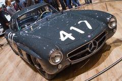 Salone dell'automobile classico di Mercedes-Benz 300SL (W198) Ginevra 2015 Fotografia Stock