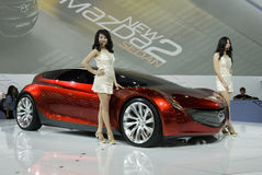 Salone dell'automobile di Bangkok Mazda fotografie stock libere da diritti