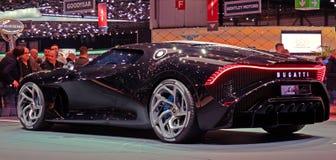Geneva Motor Show 2019 Bugatti Voiture Noire Concept Car.